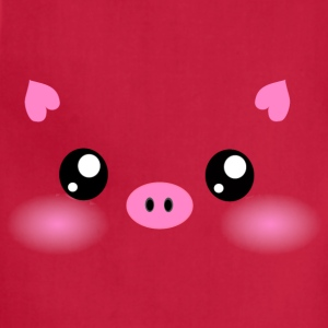 Cute Kawaii Pig face T-Shirts - Adjustable Apron
