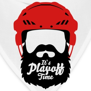 Hockey Helmet with Beard - it`s Playoff Time T-Shirts - Bandana