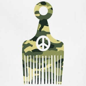 Afro Hair Peace Camo T-Shirts - Adjustable Apron