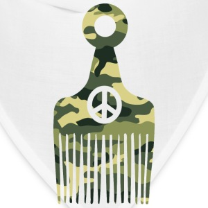 Afro Hair Peace Camo T-Shirts - Bandana