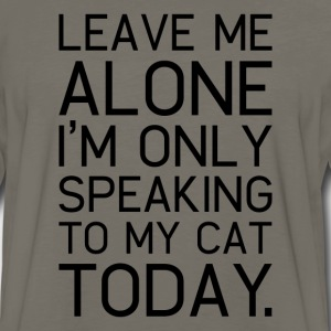 Only my cat understands. - Men's Premium Long Sleeve T-Shirt
