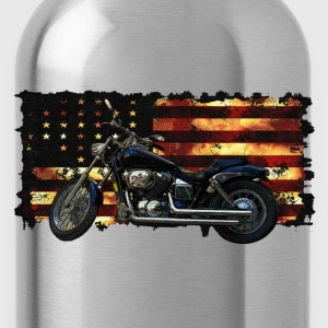 Union Flag, Civil War, Motorcycle - Water Bottle