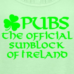 Pubs, the official sunblock of Ireland Women's T-Shirts - Women's Flowy Tank Top by Bella