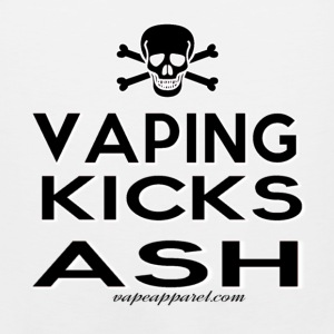 Vaping Kicks Ash Women's T-Shirts - Men's Premium Tank