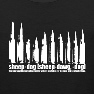 Shove Gun Control, Be A Sheep Dog - Men's Premium Tank