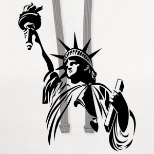 liberty statue - Contrast Hoodie