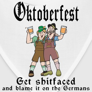 Oktoberfest Get Shit Faced T-Shirt - Bandana
