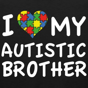 I Love My Autistic Brother - Men's Premium Tank
