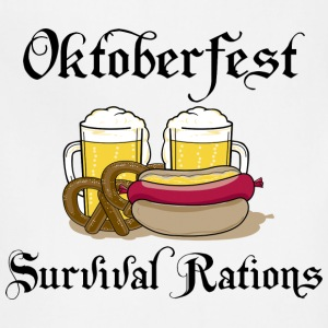 Oktoberfest Survival Rations T-Shirt - Adjustable Apron