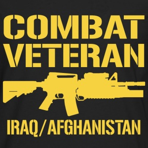 Combat Veteran Iraq and Afghanistan - Men's Premium Long Sleeve T-Shirt