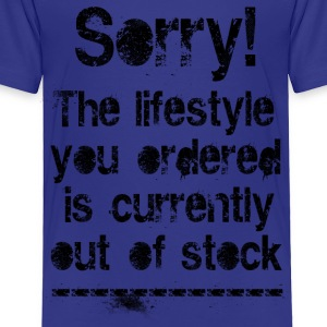 Lifestyle is out of stock (black) Kids' Shirts - Toddler Premium T-Shirt