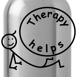 Therapy helps. T-Shirts - Water Bottle