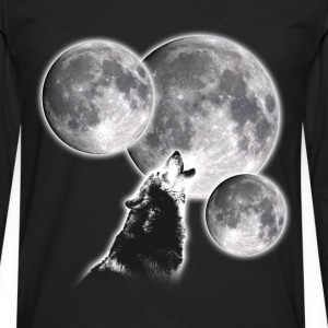 3 Moons 1 Wolf - Men's Premium Long Sleeve T-Shirt