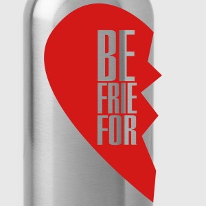 best friends forever left heart side T-Shirts - Water Bottle
