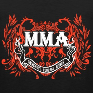 MMA - Courage__bw T-Shirts - Men's Premium Tank