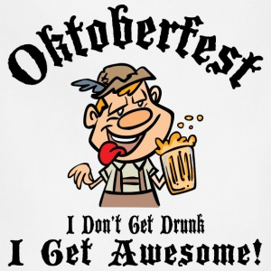 Funny Oktoberfest Drinking T-Shirt - Adjustable Apron