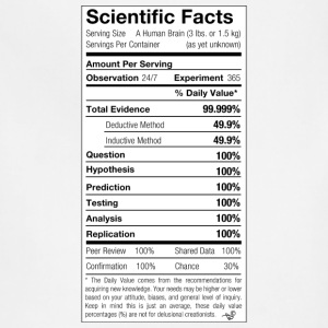 Scientific Facts are Nutritious by Tai's Tees - Adjustable Apron