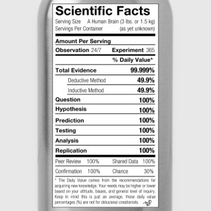 Scientific Facts are Nutritious by Tai's Tees - Water Bottle