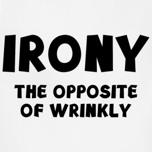 IRONY the opposite of wrinkly - Adjustable Apron