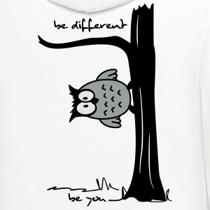 Owl on tree - be different, be you Women's T-Shirts - Contrast Hoodie