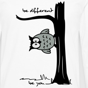 Owl on tree - be different, be you Women's T-Shirts - Men's Premium Long Sleeve T-Shirt