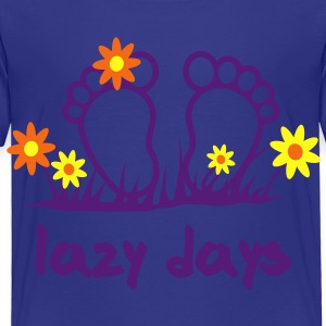 Lazy Days - Toes | desing your own funshirt Kids' Shirts - Toddler Premium T-Shirt
