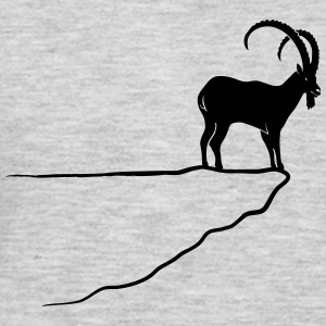 ibex capricorn mountain goat sheep rock climbing Women's T-Shirts - Men's Premium Long Sleeve T-Shirt