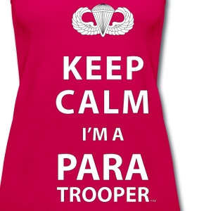 Keep Calm I'm a Paratrooper - Women's Premium Tank Top