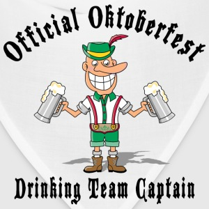 Oktoberfest Drinking Team Captain T-Shirt - Bandana