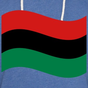 Red, Black & Green Flag T-Shirts - Unisex Lightweight Terry Hoodie