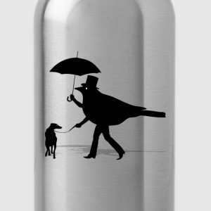 Bird Walking a Dog - Water Bottle