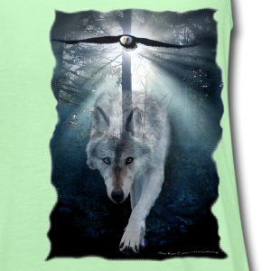 Wolf & Eagle (The Gathering) - Women's Flowy Tank Top by Bella