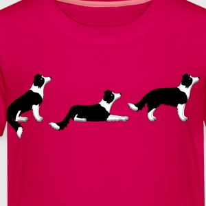 sit down stay border collie p Kids' Shirts - Toddler Premium T-Shirt