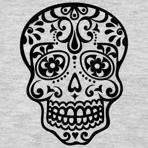 Mexican skull, floral pattern - Days of the Dead Women's T-Shirts - Men's Premium Long Sleeve T-Shirt