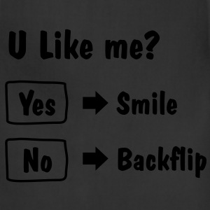 Smile or Backflip T-shirt - Adjustable Apron