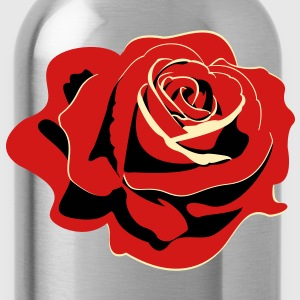 Propaganda styled rose - Water Bottle