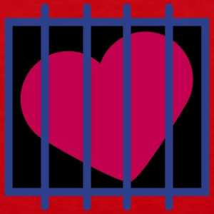 Heart In Jail T-Shirts - Men's Premium Tank