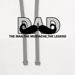 DAD THE MAN THE MUSTACHE THE LEGEND - Contrast Hoodie