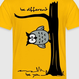 Owl on tree - be different, be you Kids' Shirts - Toddler Premium T-Shirt