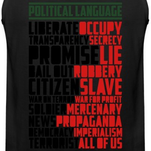 Political Language (3 Color) T-Shirts - Men's Premium Tank