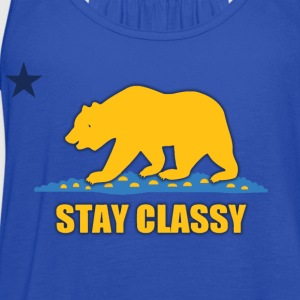 Stay Classy Bear Shirt Diego Kids' Shirts - Women's Flowy Tank Top by Bella