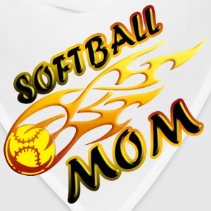 Softball Mom (flame) Women's T-Shirts - Bandana