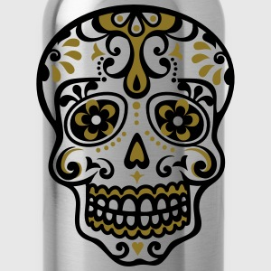 Skull, Mexico, flowers, patterns, skulls, mexican, Women's T-Shirts - Water Bottle