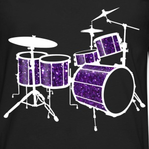 Purple Drum Set - Men's Premium Long Sleeve T-Shirt