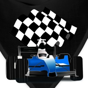 Blue Race Car with Checkered Flag - Bandana