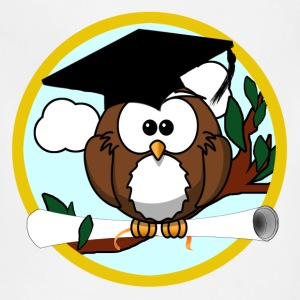 Graduating Cartoon Owl with Diploma - Adjustable Apron