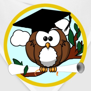 Graduating Cartoon Owl with Diploma - Bandana