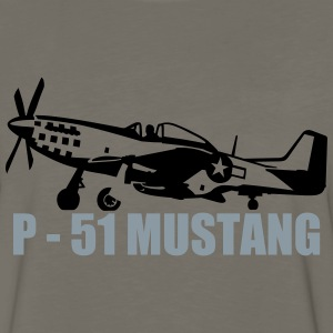 p-51 mustang T-Shirts - Men's Premium Long Sleeve T-Shirt