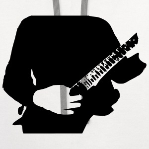 Guitarist,electric guitar,acoustic,guitar god T-Shirts - Contrast Hoodie