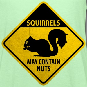 Warning: Squirrels - may contain nuts (grunge) T-Shirts - Women's Flowy Tank Top by Bella